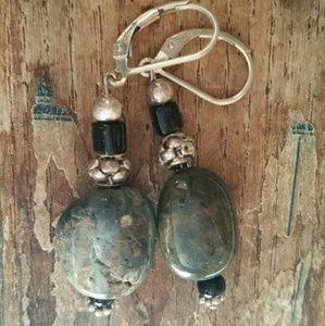Jewelry - Sterling and Jasper Earrings